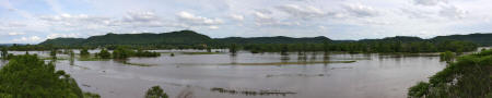Photo by Alan Stankevitz, La Crescent, MN. ROOT RIVER in FLOOD