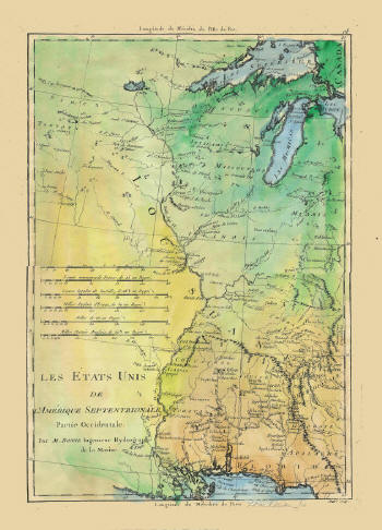 Historic Maps Of The Mississippi River Including French English - Map of the mississippi