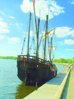 Photo by Rich Middleton, a replica of the Nina docked near La Crosse, WI
