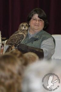 Snowy Owl with Jane at 2012 Festival of Owls
